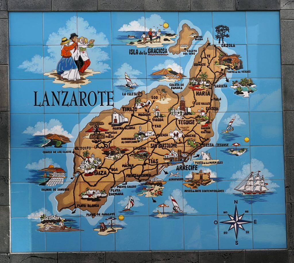 Lanzarote Karte, map, übersicht